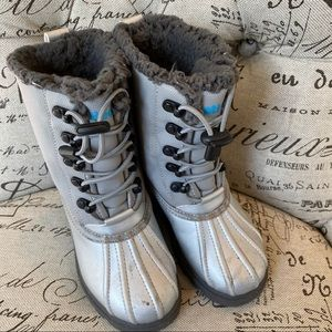 Native Silver Snow Boots
